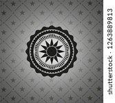 sun icon inside dark badge | Shutterstock .eps vector #1263889813