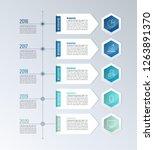 timeline infographic design... | Shutterstock .eps vector #1263891370