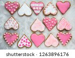 christmas baking cookies heart... | Shutterstock . vector #1263896176