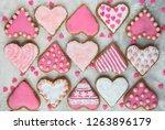 christmas baking cookies heart... | Shutterstock . vector #1263896179