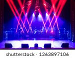 free stage with lights ... | Shutterstock . vector #1263897106