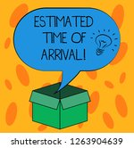 writing note showing estimated... | Shutterstock . vector #1263904639
