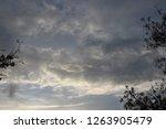 gloomy sunset sky | Shutterstock . vector #1263905479