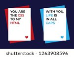 set of 2 funny valentines day... | Shutterstock .eps vector #1263908596