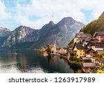 hallstatt town afternoon view... | Shutterstock . vector #1263917989