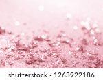 rose gold glitter confetti... | Shutterstock . vector #1263922186
