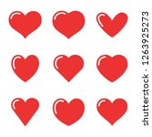 heart icon collection  love... | Shutterstock .eps vector #1263925273