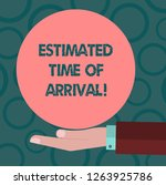 writing note showing estimated... | Shutterstock . vector #1263925786
