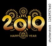 2019 happy new year banner with ... | Shutterstock . vector #1263937660