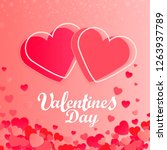 happy valentine's day abstract... | Shutterstock .eps vector #1263937789