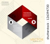 abstract origami banner... | Shutterstock .eps vector #126394730