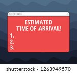 writing note showing estimated... | Shutterstock . vector #1263949570