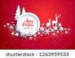 abstract winter design with... | Shutterstock .eps vector #1263959533