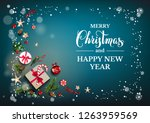 holiday card with christmas... | Shutterstock .eps vector #1263959569