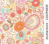 vector floral seamless pattern... | Shutterstock .eps vector #126396830