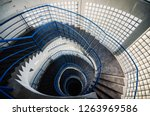 beautiful and hypnotic spiral... | Shutterstock . vector #1263969586