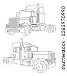 truck illustration  delivery... | Shutterstock .eps vector #1263970990