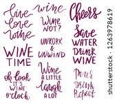 set of wine related...   Shutterstock .eps vector #1263978619