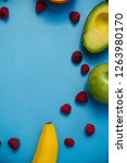 fresh fruit for smoothies on a...   Shutterstock . vector #1263980170