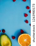 fresh fruit for smoothies on a...   Shutterstock . vector #1263980173