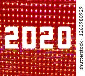 2020  glitch art  led analog tv ... | Shutterstock . vector #1263980929