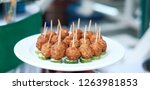 thai food is minced pork ball... | Shutterstock . vector #1263981853