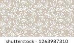 floral seamless pattern. soft...   Shutterstock .eps vector #1263987310