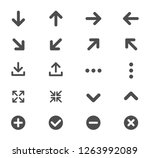 arrows and signs web icons. ui...