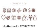 big set of organic cosmetics... | Shutterstock .eps vector #1263993949