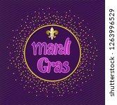 mardi gras carnival party... | Shutterstock .eps vector #1263996529