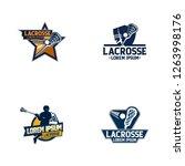 lacrosse sport badge logo design | Shutterstock .eps vector #1263998176