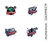 lacrosse sport badge logo design | Shutterstock .eps vector #1263998179