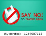ideas to reduce pollution say...   Shutterstock .eps vector #1264007113