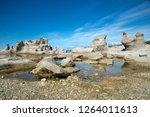 le chateau and agneau monolithe ...   Shutterstock . vector #1264011613