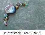 healing labradorite and green... | Shutterstock . vector #1264025206