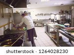 professional team cooks and...   Shutterstock . vector #1264028230
