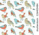 bird hand drawn seamless...   Shutterstock .eps vector #126403484