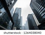 financial center high rise... | Shutterstock . vector #1264038040