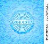 confidential realistic sky blue ... | Shutterstock .eps vector #1264048663