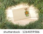 new year greeting card with pig....   Shutterstock . vector #1264059586
