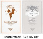 two vector labels for wine... | Shutterstock .eps vector #126407189
