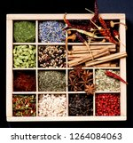 spices with chili peppers ...