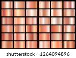 realistic pink gold gradient... | Shutterstock .eps vector #1264094896