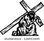 vector illustration of christ... | Shutterstock .eps vector #126411644