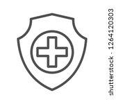 hospital care vector icon | Shutterstock .eps vector #1264120303