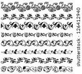flower borders | Shutterstock .eps vector #126412940