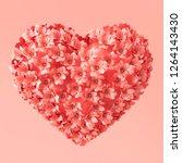 Heart Shape Made Of Flowers...