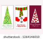 merry christmas and happy new... | Shutterstock .eps vector #1264146010