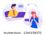 vector illustration  customer... | Shutterstock .eps vector #1264158370