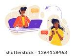vector illustration  customer... | Shutterstock .eps vector #1264158463